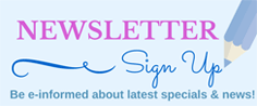 Sign up to our newsletter. Be informed about latest specials and news!