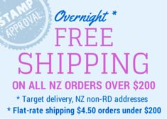 Overnight Shipping* (*Urban target. Rural target 2-3 working days) - $4.50 flat rate anywhere in New Zealand. Free Shipping for order over $200.
