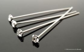 Swarovski Rhodium PP24 Chaton Headpin BEST SELLER