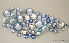 '...SOMETHING BLUE' Creative Crystals Mix 60pcs
