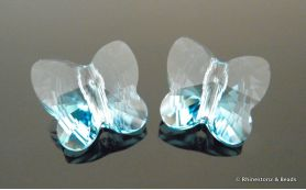 Swarovski Butterfly Art 5754 Aquamarine 10mm