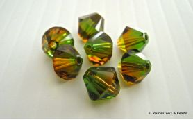 Swarovski Bicone Art 5328 Fern Green - Topaz Blend 8mm