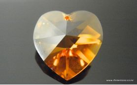 Swarovski Heart Art 6202 Topaz 18mm