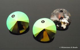 NEW!! Swarovski Rivolli Art 6428 Scarabaeus Green 12mm