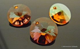 NEW!! Swarovski Rivolli Art 6428 Crystal Copper 12mm