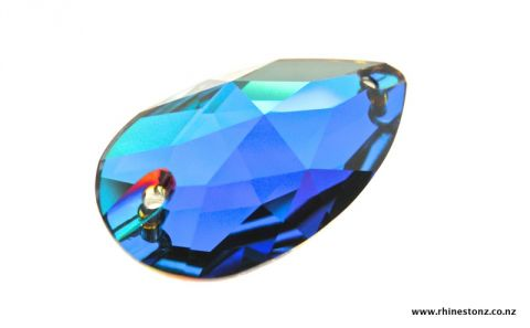 Swarovski Sew-On Teardrop Art 3230 Meridian Blue 28mm
