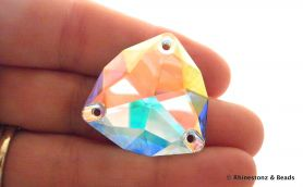 NEW! Swarovski Sew-On Trilliant Art 3272 Crystal AB 28mm