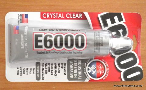 E6000 Adhesive (medium++ tube) 2oz CANNOT SHIP OUTSIDE NZ