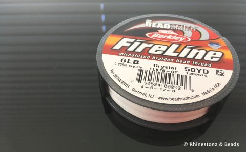 FireLine Bead Thread Crystal 6LB - 50 yard Roll