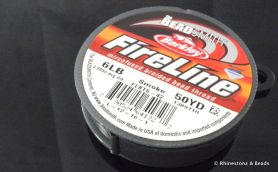 FireLine Bead Thread Smoke 6LB - 50 yard Roll