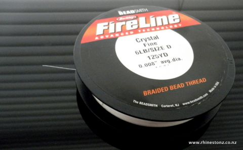 FireLine Bead Thread Crystal 6LB/Size D - 125 yard Roll